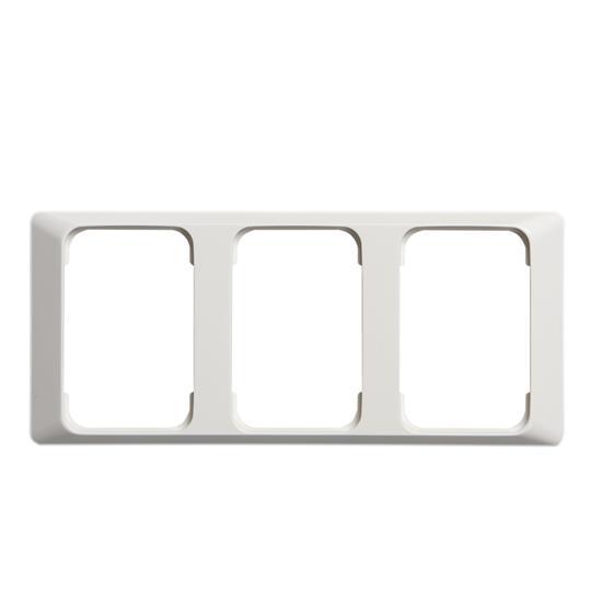 Рамка 3-постовая для DoubleSchuko, 100мм серия Jussi, белая 2523-100 ABB