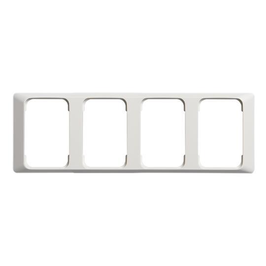 Рамка 4-постовая для DoubleSchuko, 100мм серия Jussi, белая 2524-100 ABB