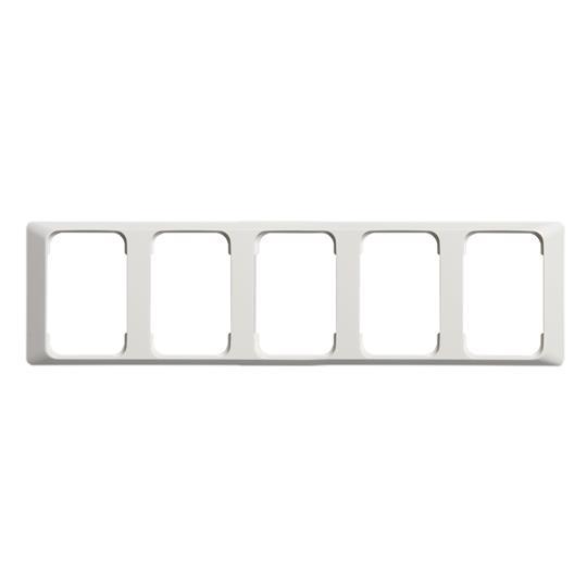 Рамка 5-постовая для DoubleSchuko, 100мм серия Jussi, белая 2525-100 ABB