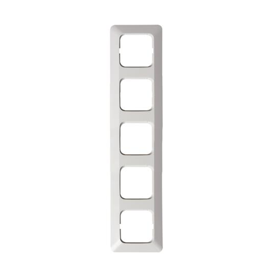 Рамка 5-постовая, серия Jussi, белый 2515 ABB