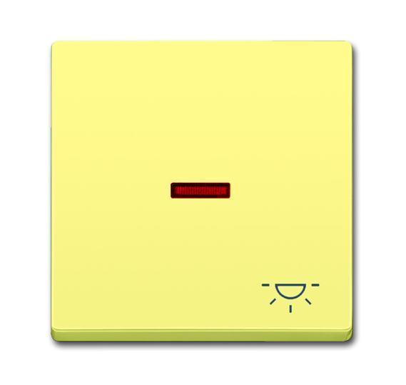 Клавиша для механизма 1-клавишного выключателя/переключателя/кнопки, с прозрачной линзой и символом 1751-0-3005 ABB