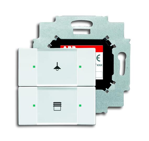 6126/01-84-500 Сенсор 2-кл. в комплекте с коплером, альпийский белый 6116-0-0174 ABB