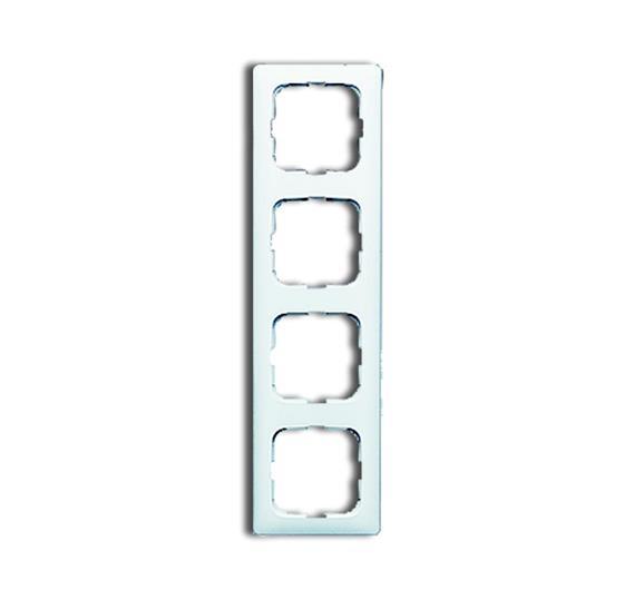 Рамка 4-постовая для кабель-каналов, серия Reflex SI, альпийский белый 1725-0-1497 ABB