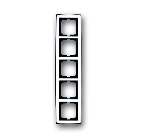 Рамка 5-постовая, серия solo/future, глянцевый хром 1754-0-4330 ABB