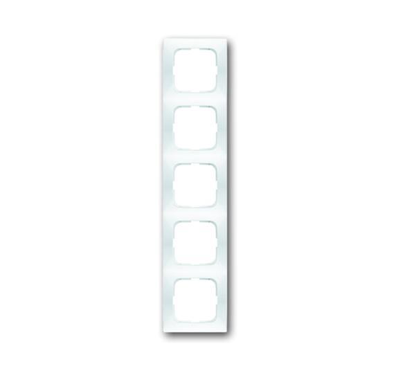 Рамка 5-постовая, серия spring, цвет альпийский белый 1725-0-1478 ABB