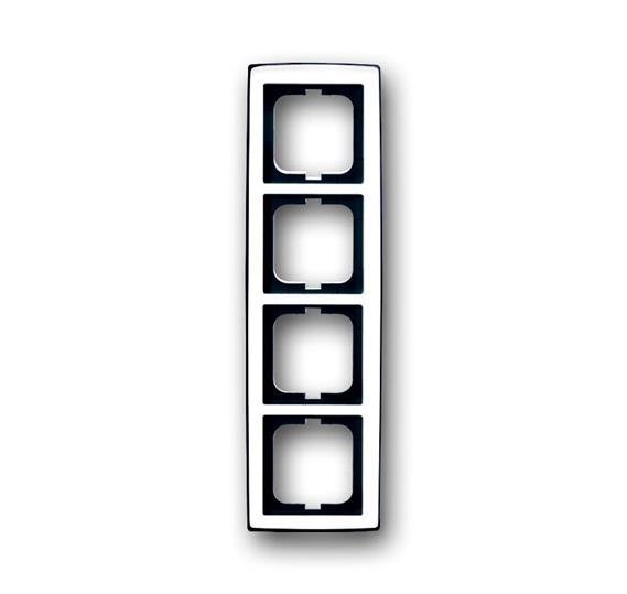 Рамка 4-постовая, серия solo/future, глянцевый хром 1754-0-4329 ABB