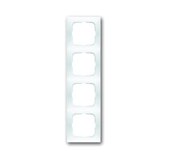 Рамка 4-постовая, серия spring, цвет альпийский белый 1725-0-1477 ABB