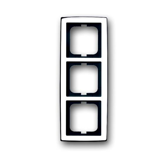 Рамка 3-постовая, серия solo/future, глянцевый хром 1754-0-4328 ABB