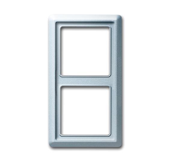 Рамка 2-постовая, серия Allwetter 44, цвет серебристо-алюминиевый 1730-0-0278 ABB