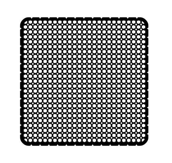 Вкладыш декоративный iceLight для 2068/1х, рисунок сетка 1714-0-0302 ABB