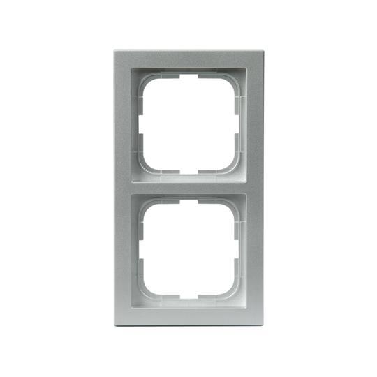 Рамка 2-постовая, серия Impressivo, алюминий 1722F85-83 ABB