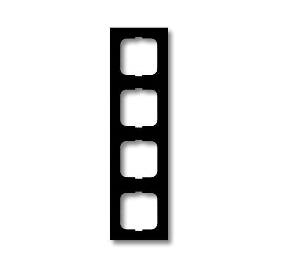 Рамка 4-постовая, серия, серия solo/future, цвет linear, цвет антрацит 1754-0-4243 ABB