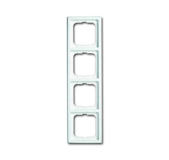 Рамка 4-постовая, серия future, цвет davos/альпийский белый 1754-0-4176 ABB