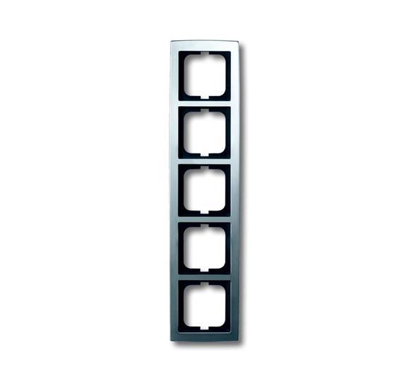 Рамка 5-постовая, серия solo/future, матовый хром 1754-0-4108 ABB