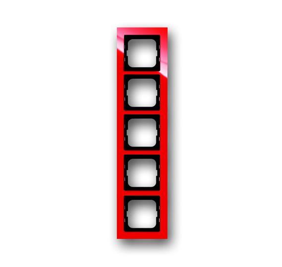 Рамка 5-постовая, серия axcent, цвет красный 1754-0-4353 ABB
