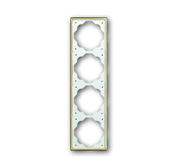 Рамка 4-постовая, серия impuls, цвет золото 1754-0-3641 ABB