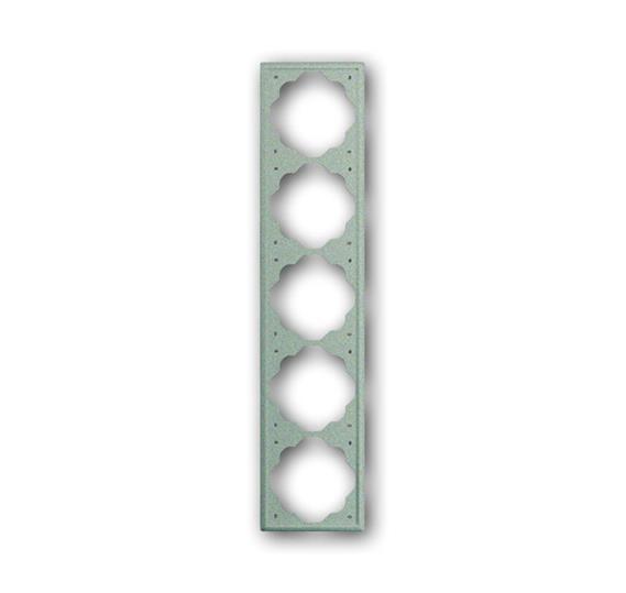 Рамка 5-постовая, серия impuls, цвет шампань-металлик 1754-0-2551 ABB