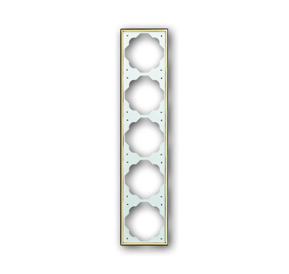 Рамка 5-постовая, серия impuls, цвет золото 1754-0-3690 ABB