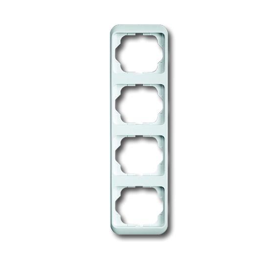 Рамка 4-постовая, вертикальная, серия alpha nea, цвет белый глянцевый 1754-0-2809 ABB