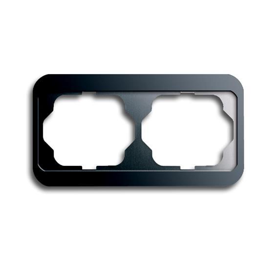 Рамка 2-постовая, горизонтальная, серия alpha nea, цвет платина 1754-0-1629 ABB