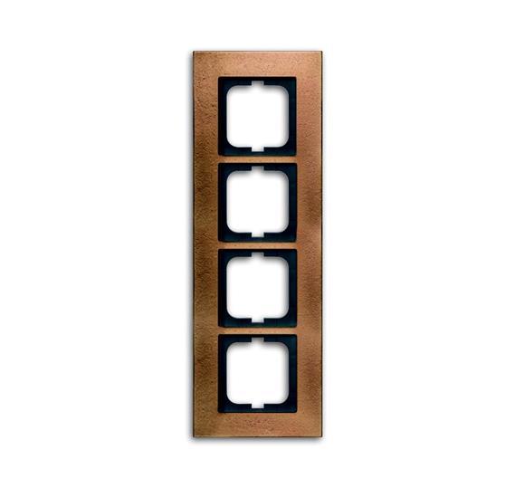 Рамка 4-постовая, серия carat, бронза 1754-0-4261 ABB
