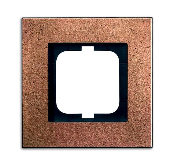 Рамка 1-постовая, серия carat, бронза 1754-0-4258 ABB