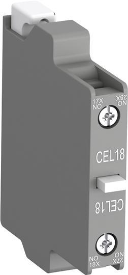 Контактный блок CEL18-10 боковой 1НО для контакторов А(F)95-AF16 50 (коммутация слаботочных цепей) 1SFN010716R1010 ABB