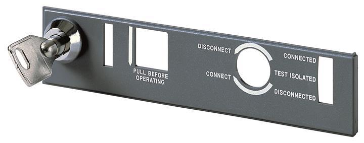 Блокировка положения выключателя в фикс. части Emax E1/6 с разными ключами или навесным замком D=4mm 1SDA058278R1 ABB