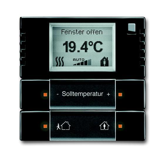 6124/01-81-500 Терморегулятор комнатный с дисплеем, FM, антрацит 6134-0-0295 ABB