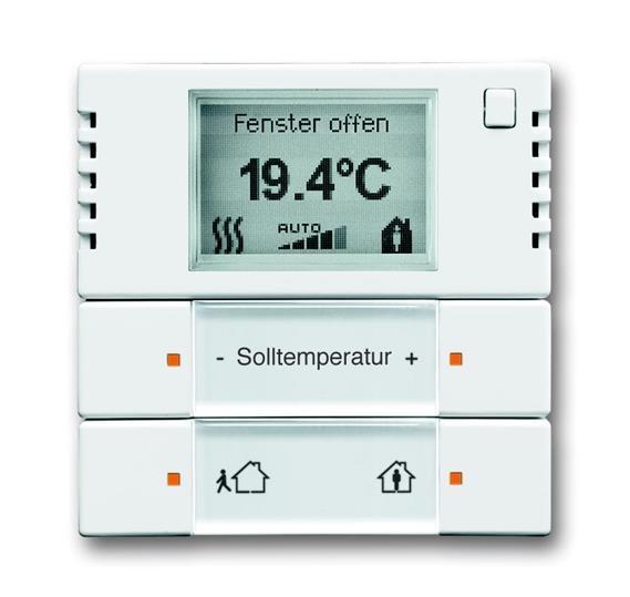 6124/01-84-500 Терморегулятор комнатный с дисплеем, FM, альпийский белый 6134-0-0248 ABB