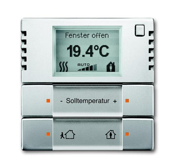 6124/01-866-500 Терморегулятор комнатный с дисплеем, FM, нержавеющая сталь 6134-0-0279 ABB