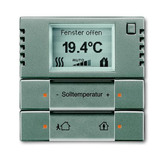 6124/01-803-500 Терморегулятор комнатный с дисплеем, FM, метеор 6134-0-0280 ABB