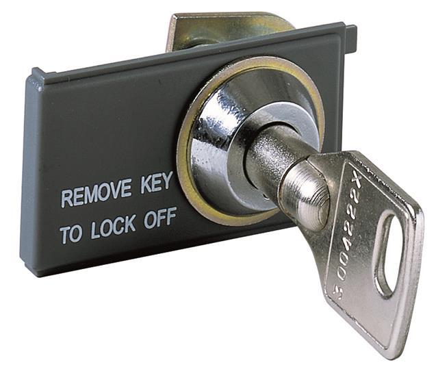 Блокировка выключателя в разомкнутом состоянии KEY LOCK E1/6 new - разные ключи 1SDA058271R1 ABB