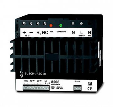 Усилитель REG с возможностью прямого подключения 16 громкоговорителей, Busch-AudioWorld, MDRC 8200-0-0107 ABB