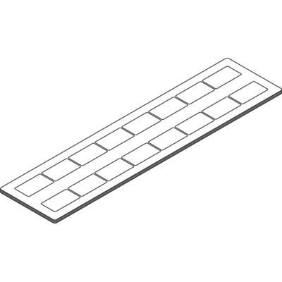 Маркировка PPB2715 , черно-белая, двусторонняя, 16 маркеров в пластине 1SNA235111R1200 ABB