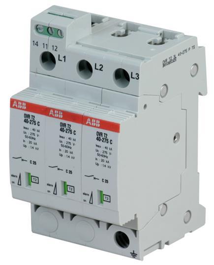 Ограничитель перенапряжения OVR T2 3L 40 275 P TS 2CTB803853R2500 ABB