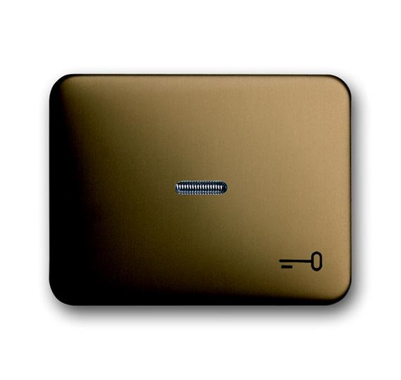 Клавиша для механизма 1-клавишного выключателя/переключателя/кнопки, с прозрачной линзой и символом 1751-0-1740 ABB