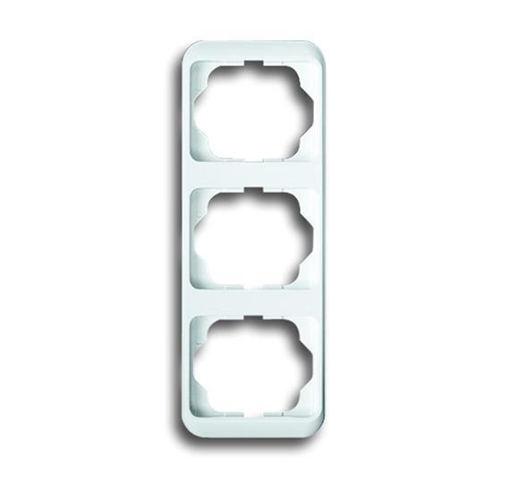 Рамка 3-постовая, вертикальная, серия alpha nea, цвет белый матовый 1754-0-1850 ABB