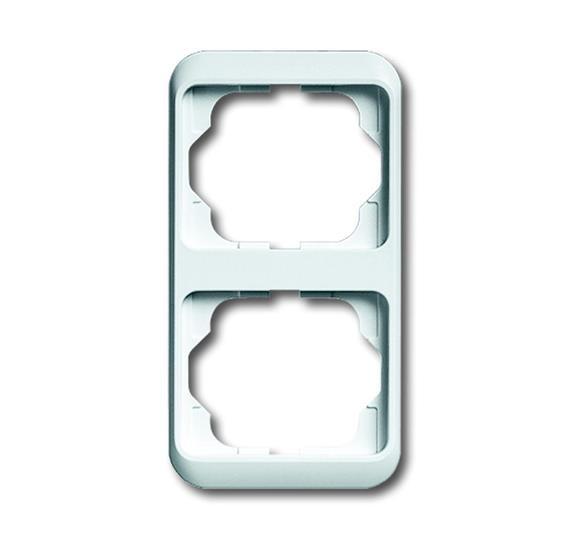 Рамка 2-постовая, вертикальная, серия alpha nea, цвет белый глянцевый 1754-0-2726 ABB
