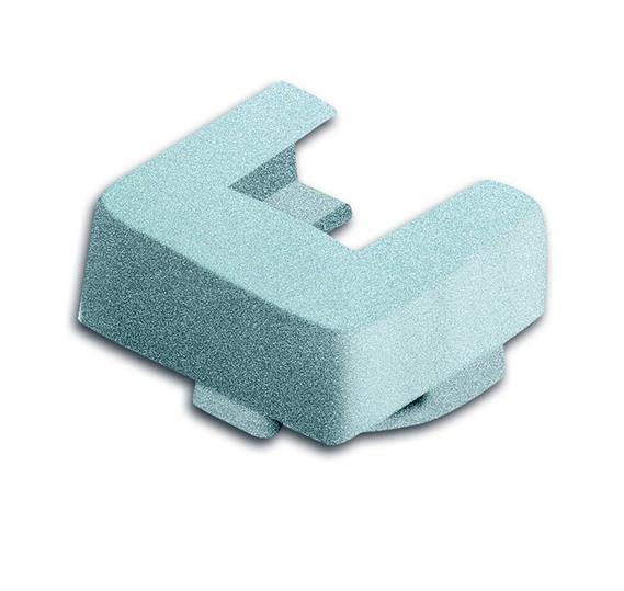 Ввод для кабель-каналов 15х15 мм, 19х19 мм, серия solo/future, цвет серебристо-алюминиевый 1761-0-1504 ABB