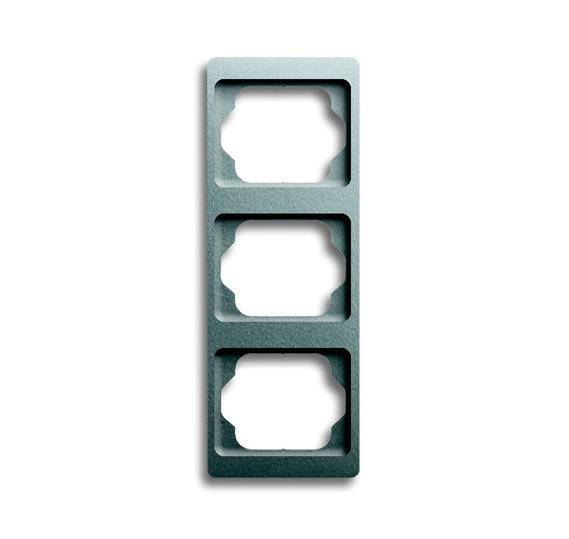 Рамка 3-постовая, вертикальная, серия alpha exclusive, цвет титан 1754-0-4128 ABB