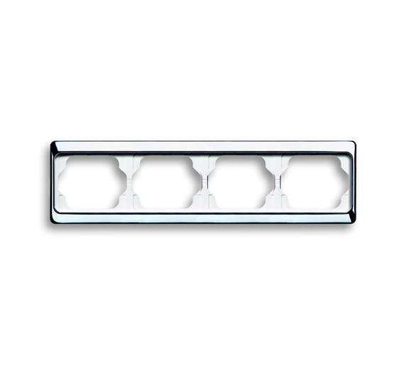 Рамка 4-постовая, горизонтальная, серия alpha exclusive, цвет хром 1754-0-4164 ABB