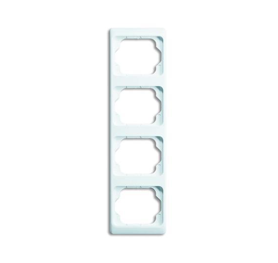 Рамка 4-постовая, вертикальная, серия alpha exclusive, цвет белый глянцевый 1754-0-4156 ABB