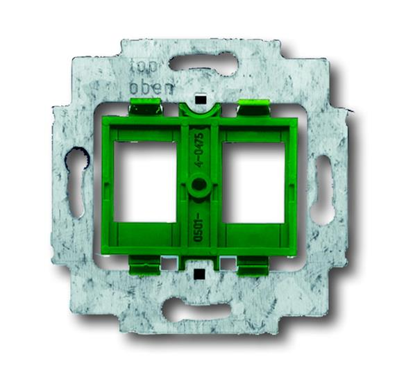 Суппорт для 2-х неэкранированных R&M разъёмов фирмы AVAYA (AT&T / Lucent technologies), Giga Speed, 1753-0-8048 ABB