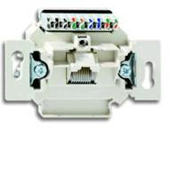 Механизм 1-постовой компьютерной/телефонной розетки UAE, 8 полюсов, RJ45, категория 5е, неэкранирова 0230-0-0397 ABB