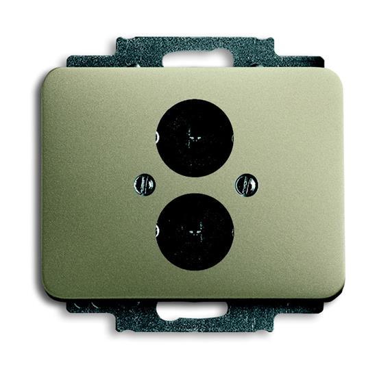 Плата центральная с суппортом с 2-мя разъёмами для громкоговорителя, серия alpha exclusive, цвет пал 1723-0-0245 ABB