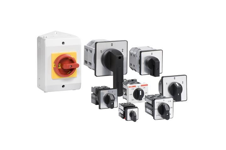 Переключатель ONV30PBR для вольтметра стандартный 7-поз.(L1-L2,L2-L3,L3- L1,0, L1-N,L2-N,L3-N) (двух 1SCA113971R1001 ABB