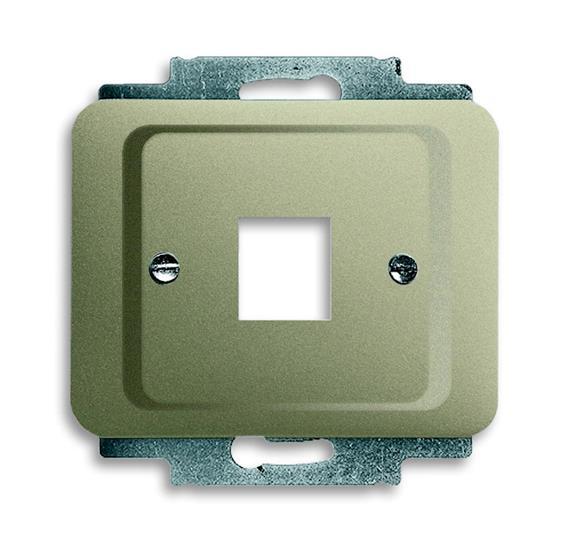 Плата центральная (накладка) для 1-го разъёма Modular Jack (артикулы 0210, 0211 и 0219), серия alpha 1710-0-3314 ABB