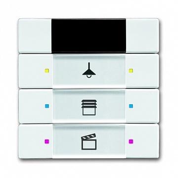 6129/01-84-500 Сенсор управления с ИК-приемником, 3/6-кл., альпийский белый 6135-0-0146 ABB