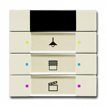 6129/01-82-500 Сенсор управления с ИК-приемником, 3/6-кл., слоновая кость 6135-0-0157 ABB